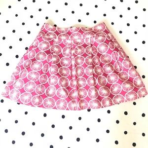 Pink Tartan PINK Grapefruit Pleated Skirt SZ 10